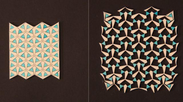 این ورقههای پلاستیک با با گسترش و جمع شدن در تمام جهات، تغییر شکل میدهند
