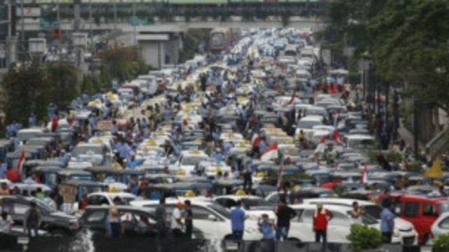 Traffic Jam in Indonesia