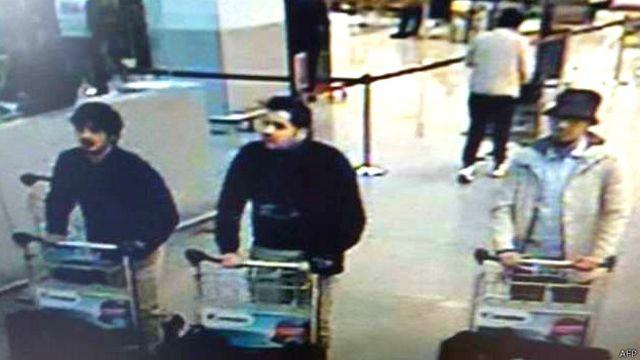 تصاویر سه مظنون دقایقی پیش از حملات فرودگاه بروکسل