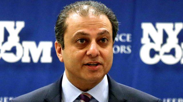 Reza Zarrab dosyasına New York eyaleti Güney Bölgesi Başsavcısı Preet Bharara bakıyor.