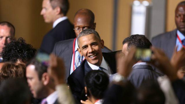 Obama se reunió con pequeños empresarios cubanos, entre ellos  propietarios de paladares.
