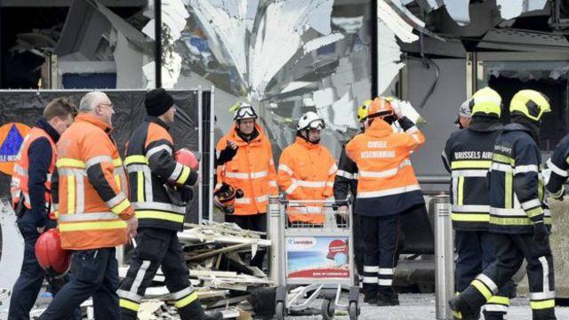 Brüksel havaalanındaki yaralılar.