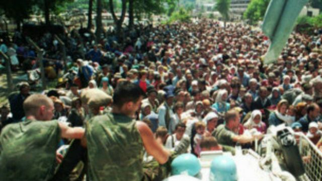 Cascos azules holandeses en Srebrenica