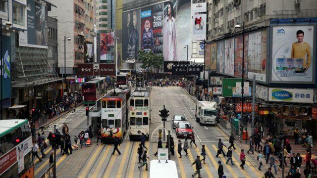 香港銅鑼灣街景