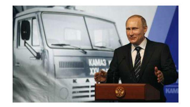 سخنرانی آقای پوتین در چهلمین سالگرد تأسیس کارخانه کامیون سازی کاماز