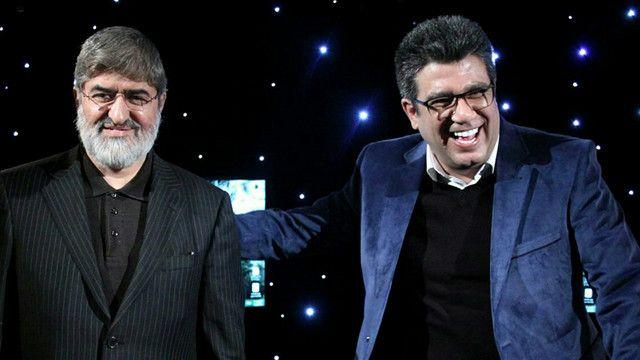 رضا رشیدپور و علی مطهری در پشت صحنه دید در شب