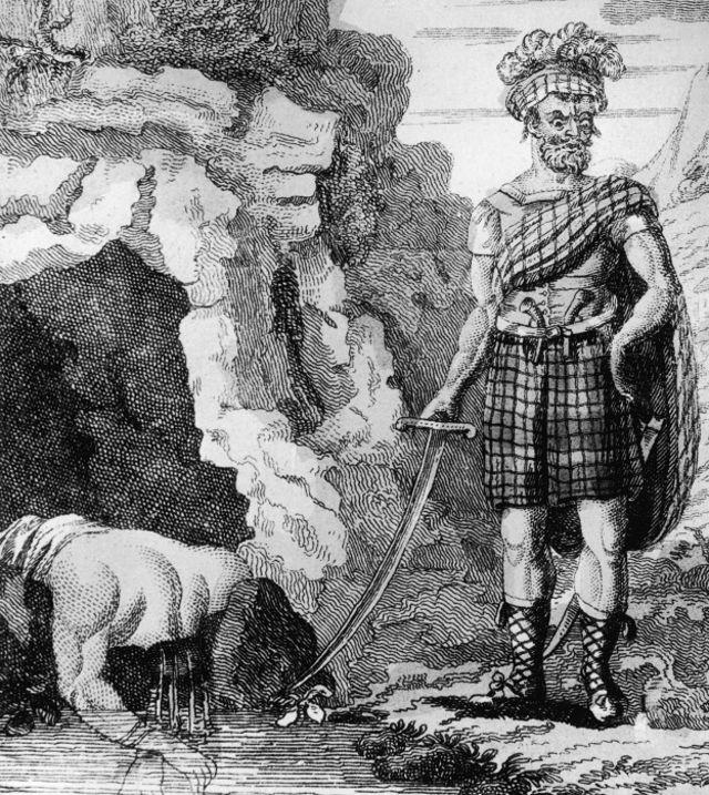 Hay clásicos, como Alexander Bean, alías Sawney Bean, que aparece aquí frente a su cueva en Escocia, circa 1500. Se dice que él y su familia mataron y se comieron más de mil personas antes de que fueran capturados, aunque su existencia nunca ha sido probada de forma concluyente.