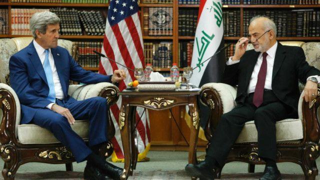 جان کری، وزیر خارجه آمریکا با ابراهیم جعفری، وزیر خارجه عراق دیدار کرد