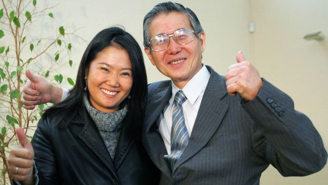 Keiko con Alberto Fujimori