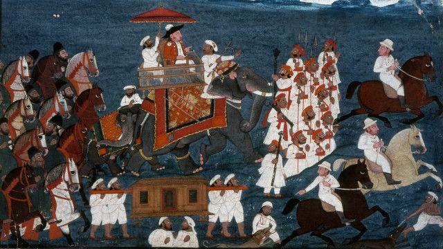 Oficial de la East India Company en India