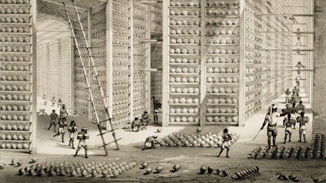 Depósito de opio en India