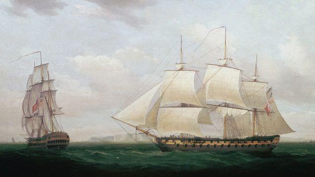 """Two Eastindia men off a Coast"", de Thomas Whitcombe, 1850"