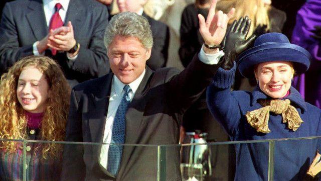 أصبحت هيلاري كلينتون السيدة الأولى للولايات المتحدة عام 1993.