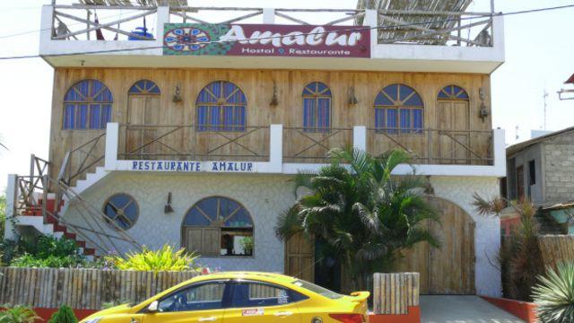 Hotel Amalur, que no colapsó ante el terremoto.