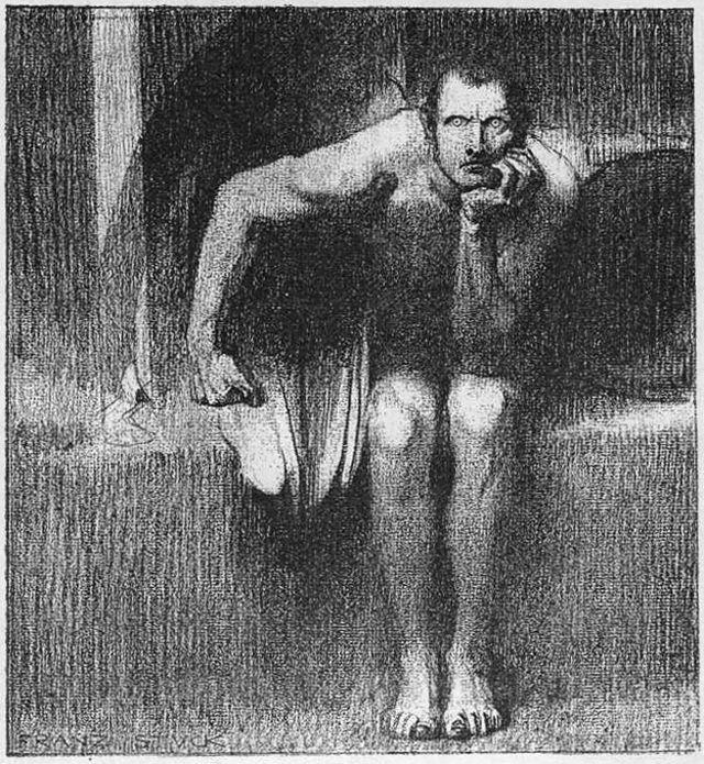 """""""Lúcifer"""", de Franz von Stuck (1863-1928), dá a sensacão do diabo estar mais próximo de nós"""