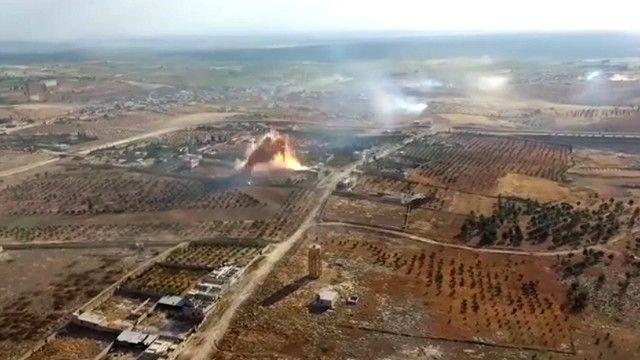 جبهه نصرت از نبرد خان طومان به طور هوایی فیلمبرداری کرده و ویدئویی از آن منتشر کرده است