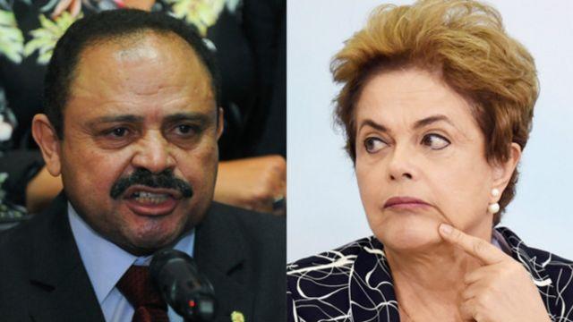 Waldir Maranhao y Dilma Rousseff