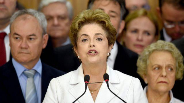 """No es un 'impeachment', es un golpe"", dijo Dilma Rousseff."