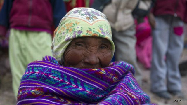 Mujer de la etnia rarámuri en Chihuahua, México