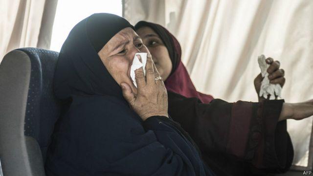 Родственники пропавшего самолета EgyptAir