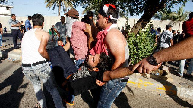 اطلقت قوات  الامن الغاز المسيل للدموع