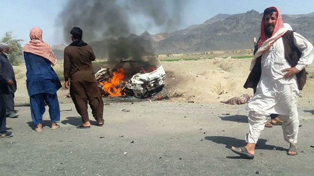 Serangan udara AS menyasar kendaraan yang dinaiki oleh Mullah Akhtar Mansour di provinsi Balochistan.