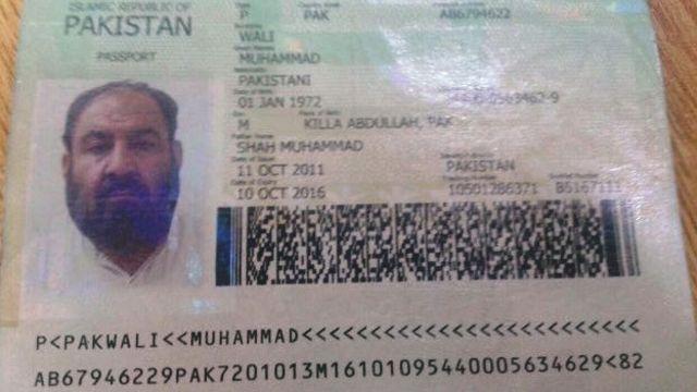 به نظر میرسد که صاحب این پاسپورت در همان روز حمله پهپاد آمریکایی، از ایران به پاکستان باز گشته بود