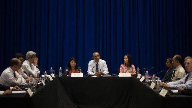 Ông Obama có buổi gặp một số thành viên xã hội dân sự tại Hà Nội hôm 24/5