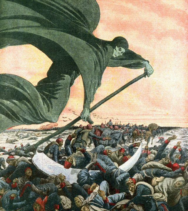 """Ilustración de """"Le Petit Journal"""" de una plaga que afligía a Europa."""