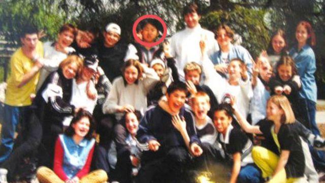 Kim Jong-un con compañeros de colegio en Suiza