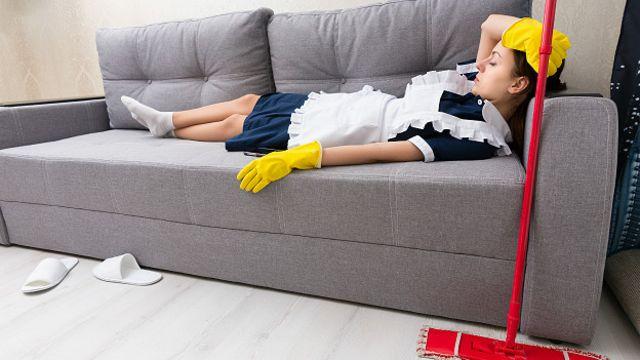 вздремнувшая домохозяйка