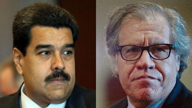 Nicolás Maduro y Luis Almagro