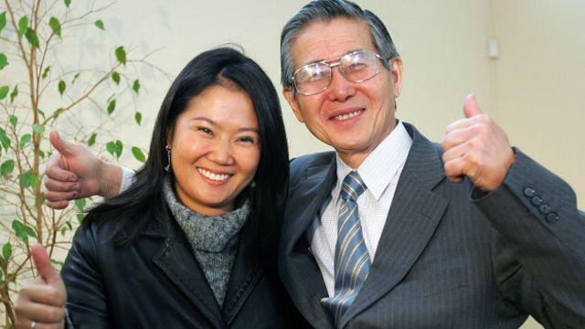 Alberto Fujimori y Keiko
