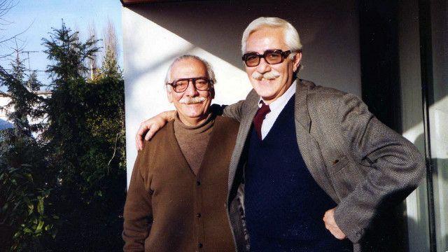 ایرج پزشکزاد (راست) میگوید که از پنج سالگی تورج فرازمند (چپ) را میشناخت