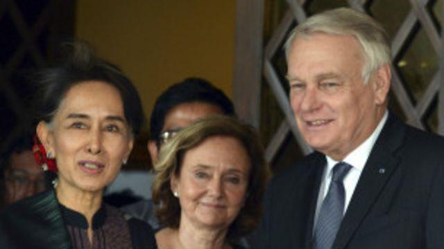 Daw Aung San Suu Kyi meets French FM