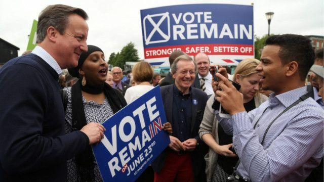 Кэмерон на митинге сторонников ЕС