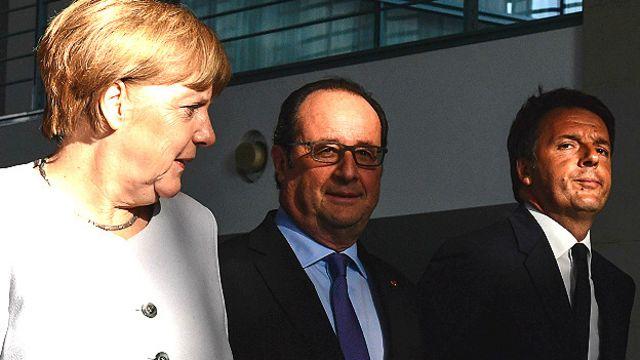 Меркель, Олланд, Ренци