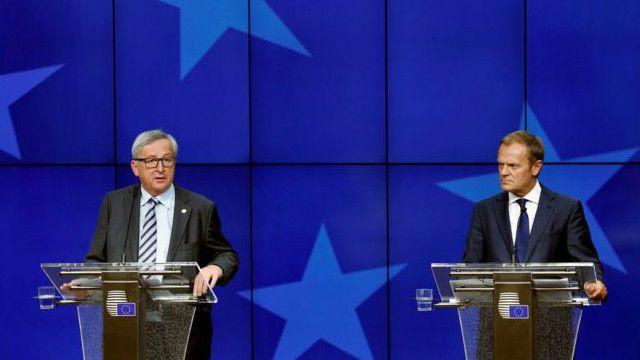 ژان کلود یونکر و دونالد تاسک پس از نشست سران ۲۷ کشور اتحادیه اروپا موضعی انعطاف ناپذیر اتخاذ کردند