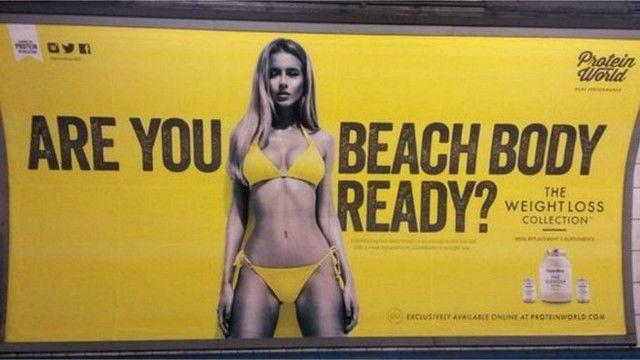 Protein World şirkətinin bu reklamı yüzlərlə şikayətə və nəticədə reklamın qadağanına səbəb olub