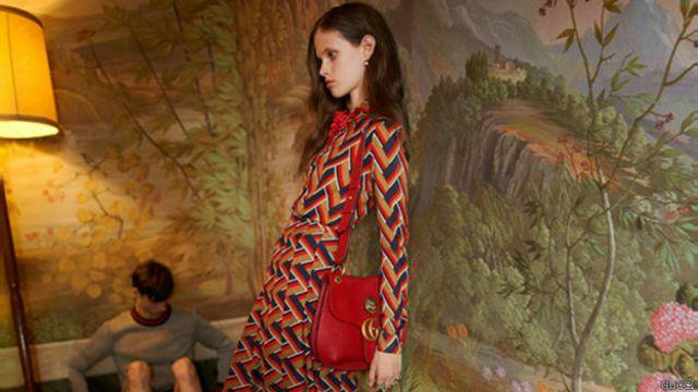Gucci şirkətinin bu reklamı təsvirdəki vücudun ifrat arıqlığına görə qadağan edilib