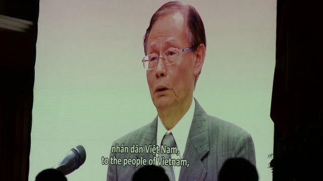 Chủ tịch Formosa Hà Tĩnh Trần Nguyên Thành trong clip phát biểu xin lỗi về vụ cá chết