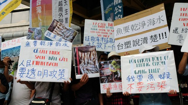 Cộng đồng người Việt tại Đài Loan biểu tình phản đối công ty Formosa tháng 6/2016