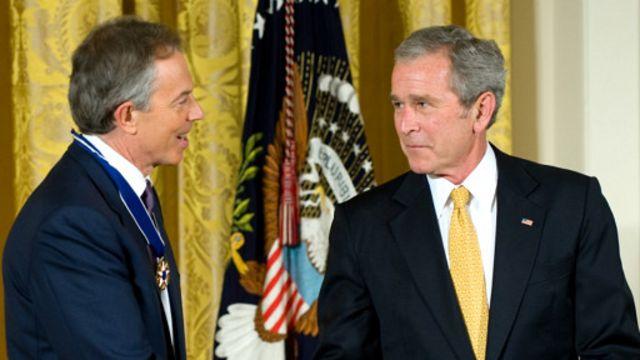 بوش:ایالات متحده هرگز متحدی نزدیکتر از بریتانیا تحت رهبری تونی بلر، نخست وزیر، نداشته است