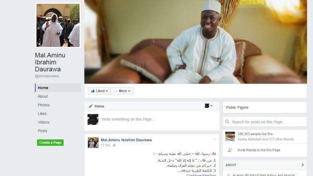 Sheikh Aminu Daurawa yana daga cikin manyan Malaman da ke isar da sako ta shafukan zumunta na zamani