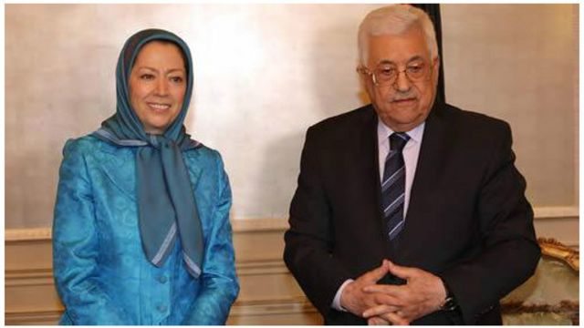 این عکس را سایت سازمان مجاهدین خلق ایران از دیدار محمود عباس و مریم رجوی منتشر کرده است