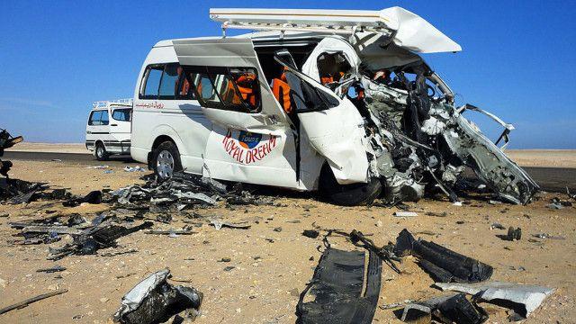 بلغ عدد حوادث السير في مصر 14500 حادث في 2015