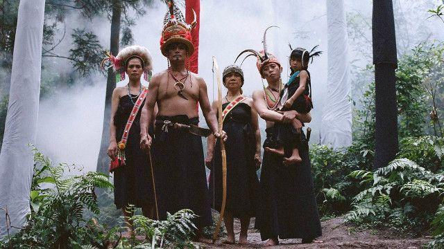 「修龍」短片聚焦5個台灣族群,圖為原住民。