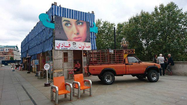 著名女建築師安娜貝爾·卡薩爾(Annabel Karim Kassar)為黎巴嫩館設計的貝魯特街頭市場裝置作品贏得本屆雙年展的大獎。
