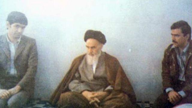 موسی خیابانی و مسعود رجوی در ملاقات با روح الله خمینی