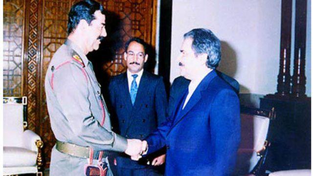 دیدار مسعود رجوی و صدام حسین در بغداد
